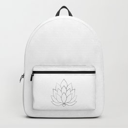 Silver Foil Lotus Flower Backpack