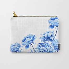 blue peonies 2 Carry-All Pouch