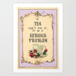 Fixing Tea Art Print