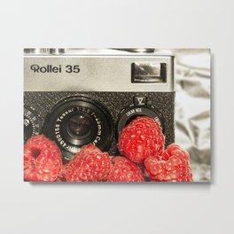 Raspberry Rollei Metal Print