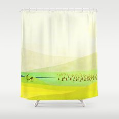 Minimal Meadow Redux Shower Curtain