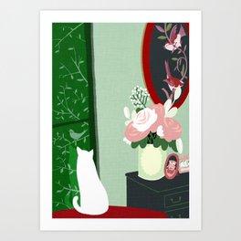 meditation window Art Print
