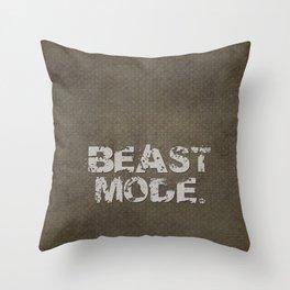 Beast Mode. Throw Pillow