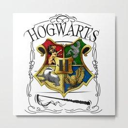 Hogwarts Alumni school Harry.Potter Metal Print