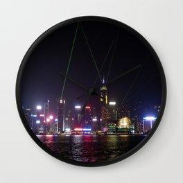 Hong Kong Laser Show Wall Clock