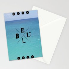 With blue love Stationery Cards