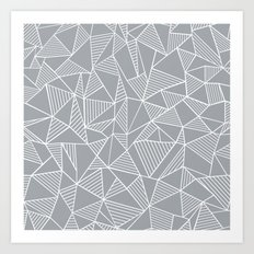 Abstraction Lines Grey Art Print