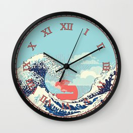 The Great Wave off Kanagawa stormy ocean with big waves Wall Clock