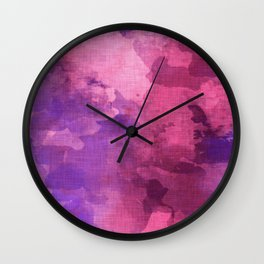 pink tourmaline Wall Clock