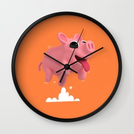 Rosa the Pig Jumping Wall Clock