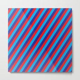 Stripes Power Metal Print