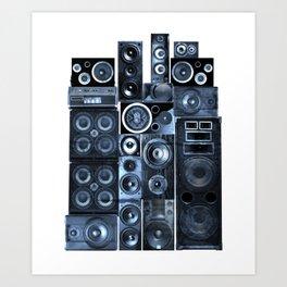 Music Speaker Sound Stack Art Print