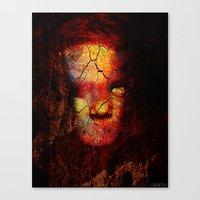 zombie Canvas Prints featuring Zombie by Joe Ganech