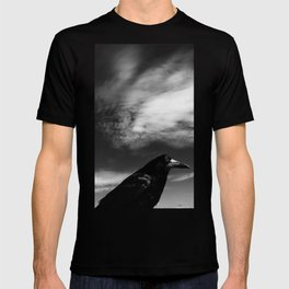 Raven Portrait at the Cliffs of Moher T-shirt