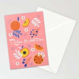PEACH AND ORANGE PATTERN Stationery Cards