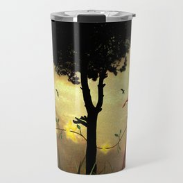 The boy collecting stars Travel Mug