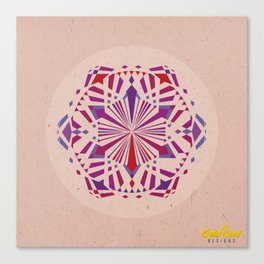 Mandala no.4 Red & Purple Canvas Print