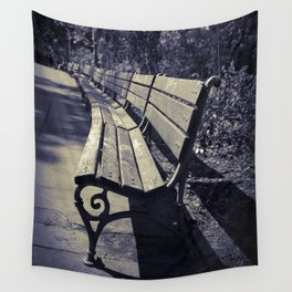 Abandoned Bench Wall Tapestry