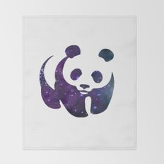 SPACE PANDA Throw Blanket