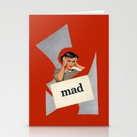 mad Stationery Cards featuring mad by Errin Ironside