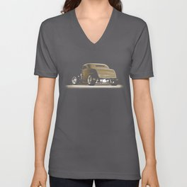 1932 Ford Hot Road Sepia Unisex V-Neck