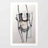 robot Art Prints featuring Robot by matthewkocanda