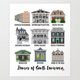 Houses of South Louisiana Art Print