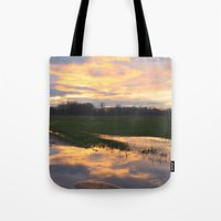 mirror Tote Bags featuring Mirror by friz sala