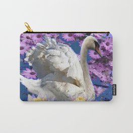 WHITE  SWAN LILAC FLOWERS WATER ART Carry-All Pouch