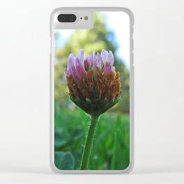Santa Barbara Clover Blossom 2525 Clear iPhone Case