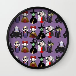 Evil kokeshis Wall Clock