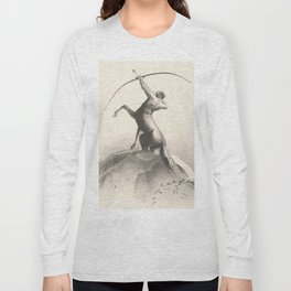 "Odilon Redon ""Centaur focuses on the sky"" Long Sleeve T-shirt"