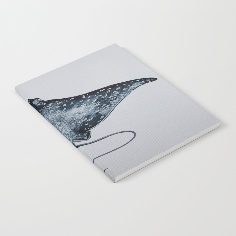 Blue Manta Ray Notebook by Esblackmoore NBK8841478