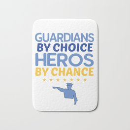Police Officers Heroes Design Bath Mat
