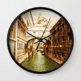 Giant Kitten in Venice (1) Wall Clock