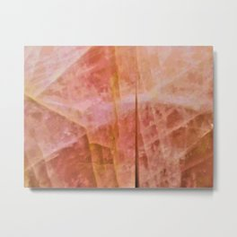 Wall of Citrine Metal Print