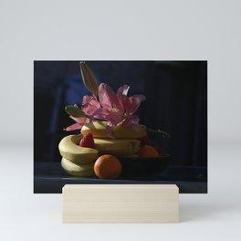 Fruit and flower composition Mini Art Print