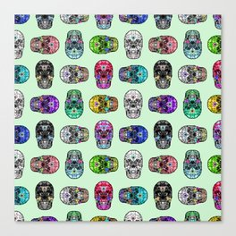 Say It with Skulls Canvas Print