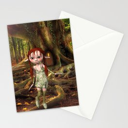 Elf and Treehouse Stationery Cards
