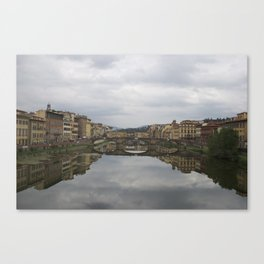 Firenze Fiume Arno Canvas Print