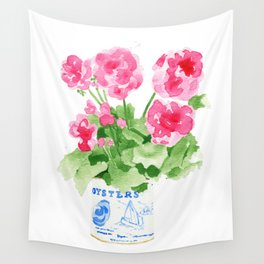 Potted Geranium no. 2 Wall Tapestry