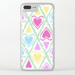 Abstract drawing Heart. Clear iPhone Case