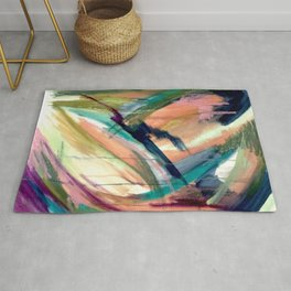 Brave -  a colorful acrylic and oil painting Rug