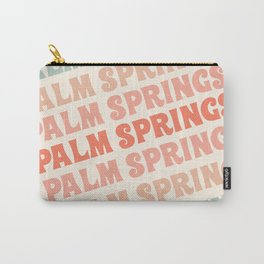 Palm Springs typography trendy retro vintage style 70s minimal art socal cali vibes Carry-All Pouch