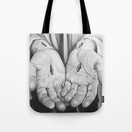 Jesus Hands Tote Bag