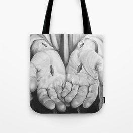 Jesus Hands Tote Bag