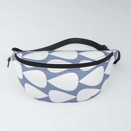 Plectrum Geometric Pattern in White and Beach House Blue  Fanny Pack