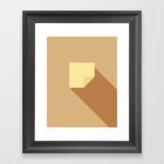 Note Framed Art Print
