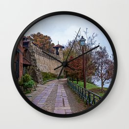 Park in the center of Turin in the autumn Wall Clock