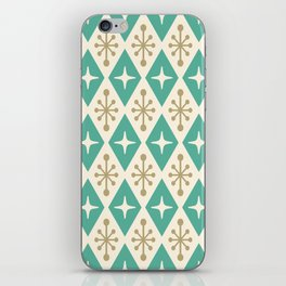 Mid Century Modern Atomic Triangle Pattern 105 iPhone Skin